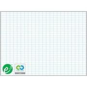 """Magna Visual Porcelain Magnetic Gridded Dry-Erase Board, Aluminum Frame, 48""""W x 36""""H, 1""""H x 2""""W grid"""