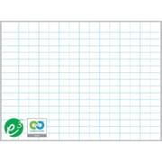 """Magna Visual Porcelain Magnetic Gridded Dry-Erase Board, Aluminum Frame, 72""""W x 48""""H, 2""""H x 3""""W grid"""