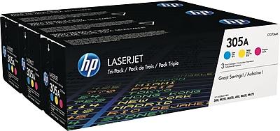 HP 305A (CF370AM) Cyan/Magenta/Yellow Original LaserJet Toner, Multi-pack (3 cart per pack)