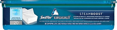 Bissell Steamboost Pad Refills, 10 x 9, White, 20/Pk