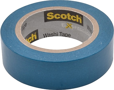 Scotch® Expressions Washi Tape, Blue Solid, 0.59