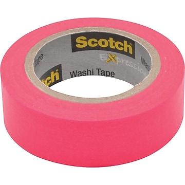 "Scotch® Expressions Washi Tape, 0.59"" x 10.91 yds., Pink (C314-PNK)"