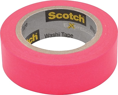 "Scotch® Expressions Washi Tape, 0.59"" x 10.91 yds., Pink (C314-PNK)"