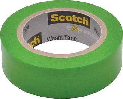 Scotch® Expressions Washi Tape, Green Solid, 0.59