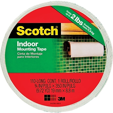 Scotch® Permanent Heavy Duty Mounting Tape, 3/4