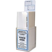 "Tabbies  Acrylic MEDICAL Information Card Display, Blue, 3 1/4""D x 2 3/4""W x 9 1/4""H, 150 Cards/Display (TAB34652)"