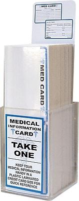Tabbies Acrylic MEDICAL Information Card Display, Blue, 3 1/4