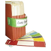 "Tabbies File Pocket Handles, 4 Handles/Sheet, Green/White, 9 5/8""W x 2""H, 48/Pack"