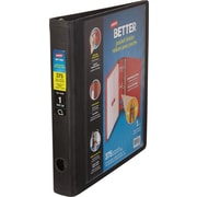 1'' Staples Better® Binder with Pocket & D-Ring, Black