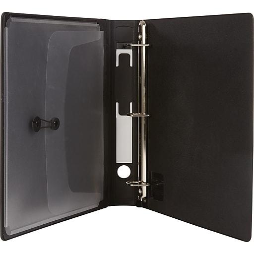 1 staples better binder with pocket d ring black staples