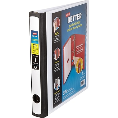 Staples Better Heavy-Duty 1-Inch D 3-Ring Binder, White (24711)