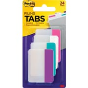 "Post-it® Tabs, 2"" x 1.5"", Assorted Colours, 24 Tabs/Pack"