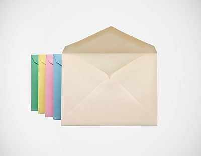 Staples® Gummed Pastel Invitation Envelopes, 4 3/8