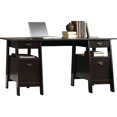 Sauder – Bureau de direction Stockbridge sur chevalets
