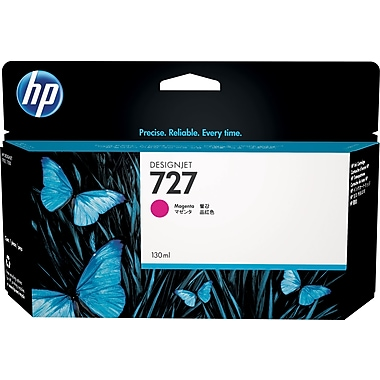 HP 727 130ml Magenta Ink Cartridge (B3P20A), High Yield