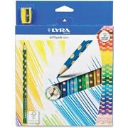 Dixon® Prang Slim Coloured Pencils, 24/Set
