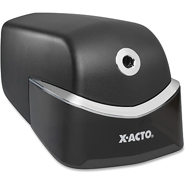 X-Acto® Quiet Pencil Sharpener, Black/Chrome