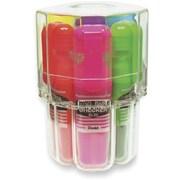Pentel® Data Checker Highlighters, Chisel Tip, Assorted, 6/Pack