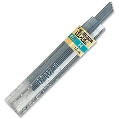 Pentel® Super Hi-Polymer Leads, 0.7mm, H, 12/Pack
