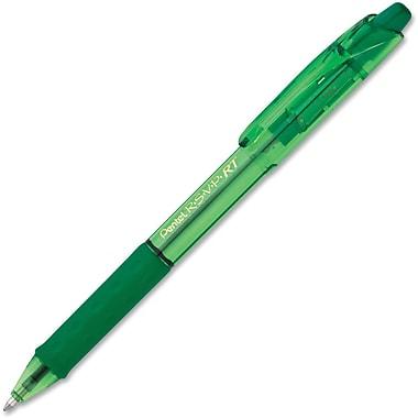 PentelMD – Stylo à bille rétractable R.S.V.P., pointe moyenne de 1 mm, vert