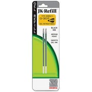Zebra® Jk-Refill For G-301 Retractable Rollerball Pen, Medium 0.7mm Tip, Black, 2/Pack
