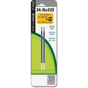 Zebra® Jk-Refill For G-301 Retractable Rollerball Pen, Medium 0.7mm Tip, Blue, 2/Pack
