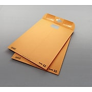 """Staples ClearClasp™ 9"""" x 12"""" Resealable Brown Kraft Envelopes, 10/Pack (901988)"""
