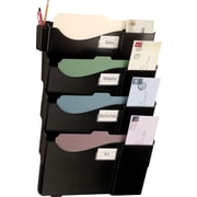 Grande Central Filing System, Letter/Legal Size with 4 Pockets, Black
