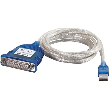 C2G USB Serial DB25 Adapter Cable, 1.8m/6'