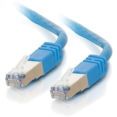 C2G Cat5e Molded Shielded Network Patch Cable, 2.1m/7', Blue
