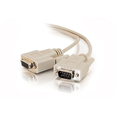 C2G DB9 M/F Extension Cable, 7.6m/25', Beige