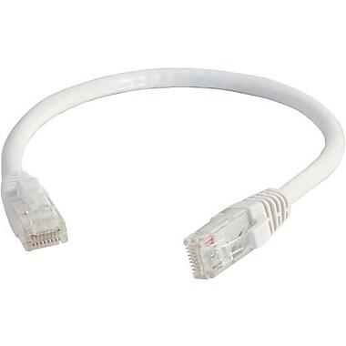 C2G – Câble réseau de raccordement UTP non blindé anti-accrochage de catégorie 5e, 7,6 m/25 pi, blanc