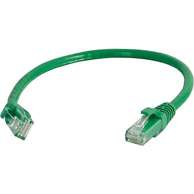 C2G Cat6 Snagless UTP Unshielded Network Patch Cable, 0.3m/1', Green
