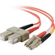 C2G LC/SC Duplex 62.5/125 Multimode Fiber Patch Cable