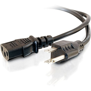 C2G 18 AWG Universal Power Cord (NEMA 5-15P to IEC320C13), 7.6m/25'