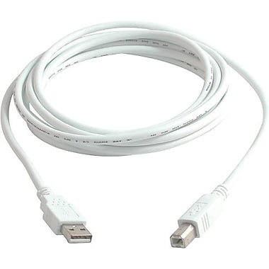 C2G USB 2.0 A/B Cable, 3m/9.8' White