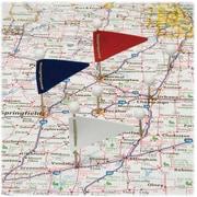 GemMC – Drapeaux triangulaires pour carte, variété de couleur, 75/paquet