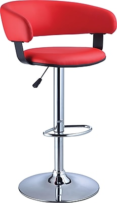 Powell Furniture Adjustable Height Bar Stool, Red (208-915)