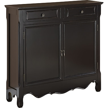 Powell® Console With 2 Doors, Black