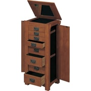 Powell® MDF Jewelry Armoire, Mission Oak