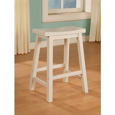 Powell® Wood Counter Stool, Pure White
