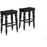 "Powell Furniture Pennfield 24"" Counter Stool, Black, 2/Pack (318-444X)"