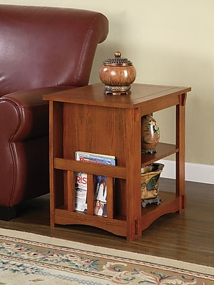 """""Powell 24"""""""" x 18 1/8"""""""" x 22 1/2"""""""" Magazine Cabinet Table, Mission Oak"""""" 66920"