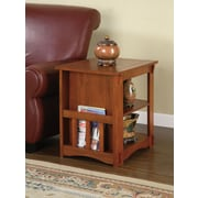 "Powell® Magazine Cabinet Table, Mission Oak, 24"" x 18 1/8"" x 22 1/2"""