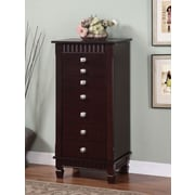 "Powell® 42 3/8"" MDF Jewelry Armoire, Merlot"