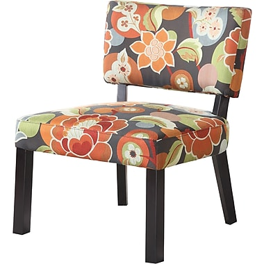 Powell Furniture Fabric Armless Accent Chair, Multi (383-936)