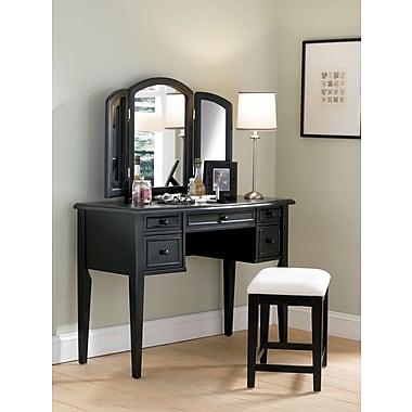 Powell® Terra Cotta Vanity/Mirror and Bench, Antique Black