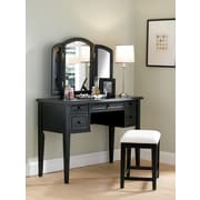 Powell® Terra Cotta Vanity/Mirror and Bench, Antique Black