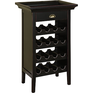 Powell® Wine Cabinet, Black