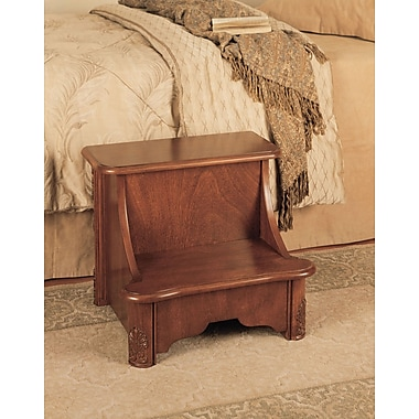 Powell® Bed Step With Storage, Woodbury Mahogany